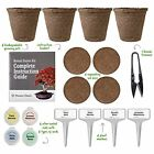 Complete Bonsai Tree Starter Kit Biodegradable Growing Pots Expanding Soil Discs