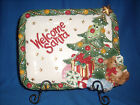 Fitz and Floyd Cookie Plate Welcome Santa Wee Christmas Tree CLEARANCE 10