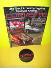 PINBALL MACHINE NOS FLYER + NOS PLASTIC PROMO FOR 1994 BALLY CORVETTE GAME