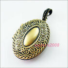 1 New Antiqued Bronze Charms Oval Clouds Picture Locket Frame Pendants 27x42mm