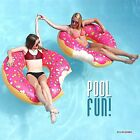 4Ft Jumbo Giant Donut Swimming Pool Inflatable Float Ring Fun Summer Beach Toy