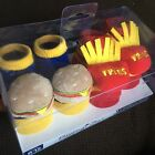 New 2 Pair Baby Booties Size 0 12 Months Burger Fries Gift Fun Boys Girls
