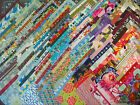 50 2 1 2 Squares Rainbow Colors  Cotton Charms Quilt Top KIT Block ALL Diff