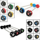 Front Axle Fork Crash Sliders Wheel Protector For BMW S1000RR FZ800 1000 F800R