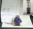ROLEX SUBMARINER 16613 18K YELLOW GOLD & STAINLESS STEEL BLUE DIAL