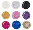 LinenTablecloth Coral Glass Charger Plate 4 Pack for Events 9 Colors