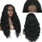 Loose Curly Wave Hair Wigs Heat Resistant Fiber Synthetic Lace Front wig Black