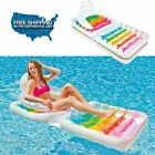 Intex Folding Inflatable Lounge Water Chair Swimming Pool Beach Party Fun New