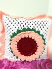 Summer Rose Pillow Lacy Pillow Cover Crochet Collectors pattern