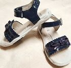 PediPed Meredith Little Girls Sandals  Navy Blue sparkle  Size 8