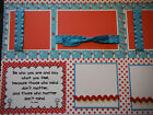 Dr Seuss Be Who You Are and Say What Quote Premade 12x12 Scrapbook Pages