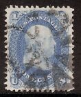 US Stamp Sc63 VF XF used Fancy Wedge Cancel
