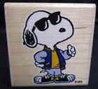 Snoopy Joe Cool Rubber Stamp 2001 Stampabilities used F1078