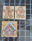 Lot of 3 Hero Arts WM Rubber Stamp Gingerbread House Girl  Boy