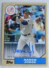 2017 Topps Series 1 Aaron Judge Auto RC Yankees Hard Signed '87 Insert