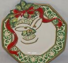 Fitz & Floyd Essentials Christmas Bells Holiday Canape Plate or Wall Plaque
