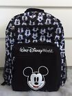 Walt Disney World Black and White Mickey Mouse Faces Expressions Backpack Bag