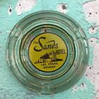 Vintage The Sands Hotel Ashtray Las Vegas Nevada Hotel Glass Collectible