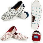 Classics Womens Casual Flats Canvas Shoes Floral Slip On Shoes