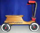 VINTAGE RADIO FLYER WOODEN SCOOTER SIT N SCOOT CHILD'S RIDE ON 4-WHEEL BIKE '70s
