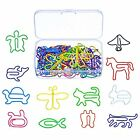 Multicolor Cute Animal Shape Paper Clips Creative Bookmark 12 Stlyes 60 Pieces