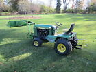 John Deere 430 Garden Tractor with loader front blade rotary mower 1989