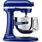 Cobalt Blue Professional Kitchen Stand Mixer 6 Qt / 24 Cups Stainless Steel 575W