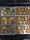 2010 2015 US Proof Presidential 1 coin sets No boxes or COAs 24 coins total