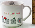 Sandra Boynton Furry Christmas Mug Kitty Cats Angel Vintage Humor Cup Tea Coffee