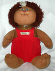 Cabbage Patch Kids Koosas Lion Brown Body Red Overalls Vintage 1983