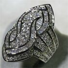 Fashion Women 925 Silver White Sapphire Ring Wedding Bridal Gift Jewelry Sz 6 10