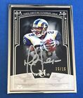 2015 Topps Museum Collection Marshall Faulk Silver Frame Auto SP #d 15 15!