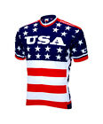 NEW World Jerseys Team USA 1979 Retro Mens Cycling Jersey Red White Blue MD