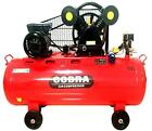 COBRA 150 LITRE 150L TWIN BELT DRIVE 240V 4HP 14 CFM V ENGINE AIR COMPRESSOR