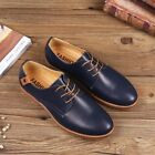 British Men Casual Genuine Leather Shoes Lace up Sneakers Oxford Breathable