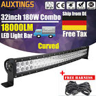 Curved Led Light Bar Work Beam 4wd Boat Offroad Atv Jeep 20 32 42 52inch
