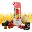KUWAN Mini Rechargeable Electric Fruit Juicer portable Blender with USB Charging