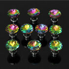 10pcs Crystal Glass Door Handle Pull 30mm Cupboard Cabinet Wardrobe Drawer Knob