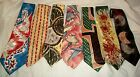 Mens Vintage Ties Lot of 7 50s 60s Rayon All Good Mr T Great Lot Good Cond