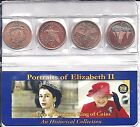 Queen Elizabeth II 4 Coin Set,Uncirculated