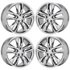 18 FORD EDGE PVD CHROME WHEELS RIMS FACTORY OEM 2016 2017 SET 4 10043 EXCHANGE