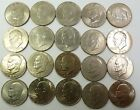 15 - Ikes Eisenhower Dollars $15 FACE of $1 US Coin Lot