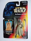 1996 KENNER STAR WARS POWER OF THE FORCE TUSKEN RAIDER ORANGE CARD NICE