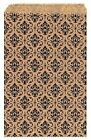 200pcs 5x7 Small Damask Paper Gift Bags Shopping Tote Kraft Jewelry Brown Black