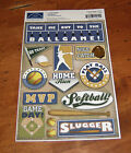 Karen Foster Design Cardstock Sticker Sheet Softball MVP