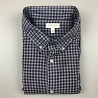 SONOMA Mens XL Black Plaid Button Down Casual Long Sleeve Shirt 100 Cotton