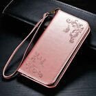 Flower Butterfly Leather Case Cover Skin Card Wallet Slot for iPhone 8 Plus