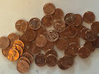 1958 D Lincoln Wheat Cents, BU Condition, Uncirculated Coins. Roll of 50.