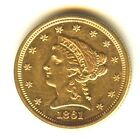 1861 P Liberty Quarter Eagle $2.50 Gold MS Nice Toning Some Chatter