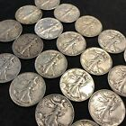 XF WALKING LIBERTY HALF DOLLARS FULL ROLL OF 20 10 FACE VALUE SILVER US R65
